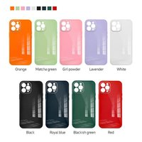Tempered Glass TPU Bumper PC Phone Cases For iPhone 12 11 mini Pro MAX XS XR 8 7 Plus Colorful Protective Cover
