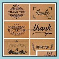 Cards Event Festive Supplies Home & Gardenretro Zakka Kraft Paper Birthday With Envelope Thank You Nostalgic Blessing Greeting Card Party Su