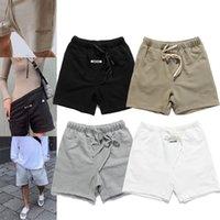 Essentials Sis Mens Spor Şort 3 M Yansıtıcı Nakış Şort Mektup Baskı Highstreet Vintage Erkekler Streetwear Şort L0219