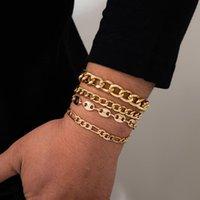 Link, Chain Ingemark 4Pcs Set Goth Cuban Bracelets For Women Pulseras Geometric Couple Bracelet Jewelry 2021 Trend Grunge Party Gift