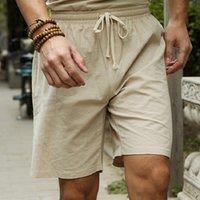 Linen Shorts Men Big Tall Summer Plus Size 6XL 7XL 8XL 9XL 10XL Elastic Waist Casual Flax Bermuda Male Beach Clothes