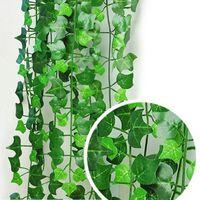 360 шт. Как реальный искусственный шелковый виноградный лист ротанга Гирлянда зеленая виноградная лоза плющ в помещении / открытый домашний декор свадьбы рождественский подарок