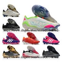 Hediye Çantası Erkek Yüksek Ayak Bileği Futbol Çizmeler COPA 20 MUNDIAL 21 FG Firma Zemin Cleats Sense + 70Y Açık Sense.1 AG Futbol Ayakkabıları