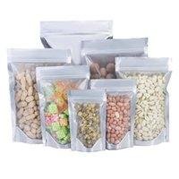Bolsas de almacenamiento 100 unids de aluminio puro de lágrimas de aluminio de pie, bolsa, impermeable, impermeable, reutilizable, frijol, tuerca líquida, bolsas de envasado de alimentos