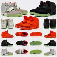 Kanye West xNike Air Yeezy II NRG 2 SP NRG Red October Black Grey Red Basketball Shoes For Men Glow In The Dark Mens Trendy Sneakers Trainers