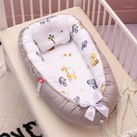 Bedding Sets 85*50cm Baby Nest Bed With Pillow Portable Crib Travel Infant Toddler Cotton Cradle For Born Bassinet Bumper1