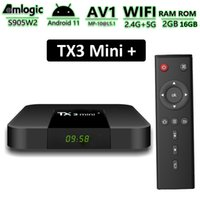 TX3 Mini+ Android TV Box Amlogic S905W2 2GB 16GB Smart TVbox Supports 2.4G 5G Dual Band Wifi BT Media Player with Disply TX3 Mini Plus Android11 2G16G