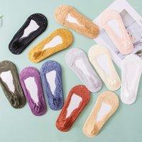 Calcetines deportivos encaje mujeres zapatillas suaves algodón primavera otoño invierno cálido yoga corto para mujer1