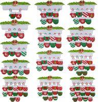 DHL Free NewStyle Personalisierte Familie Weihnachtsbaum Ornament Anhänger Mini Weihnachtsstocking Hängende Anhänger CS13