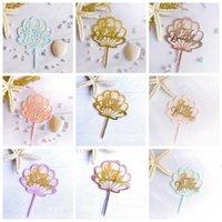 Mutlu Doğum Günü Pastası Topper Malzemeleri Akrilik Pişirme Kek Takın Dekor Cupcake Düğün Doğum Günü Partisi Dekorasyon Kek Üst Bayrak BWB5136