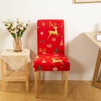Spandex-Stuhl deckt elastische Esssitz-Abdeckung Protector Anti-Dirty-entfernbare Slipcovers Bankett-Hochzeitsrestaurant-Dekor EEB5632