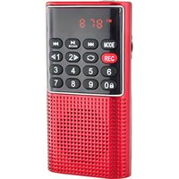 & MP4 Players L-328 Mini Portable Pocket FM Auto Scan Radio Music Audio MP3 Player Outdoor Small Speaker With Voice Recorder