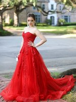 Sexy Sweetheart Red Evening Dress with Lace Appliques Beads Backless A-line Prom Dresses for Formal Occasions Custom Made