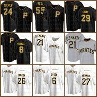 21 Roberto Clemente Baseball Jersey Pittsburgh 맞춤형 해적 8 Willie Stargell 55 Josh Bell Starling Marte Chris Archer Kent Tekulve Multi