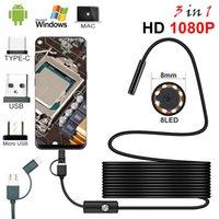 Full HD 1080P Endoskopkamera Mikrousb Typ-C Android Smartphone 3 in 1 8mm Endoskopie-Inspektionskabel 2 Meter Länge