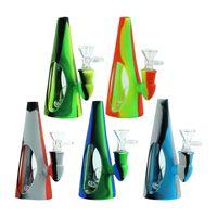 hookah shisha cone-shape silicone bong with quartz banger nail Silicon Water Pipes beaker Dab Rig Recycler