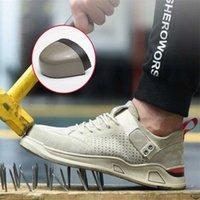 Новые Сапоги Модные Кроссовки Мужчины Стальные Носок Крышка Водонепроницаемая Нескользящая Работа Безопасность Обувь Мужчины Классическая Плоская Неразрушимая Обувь Чукка Сапоги N5DA #