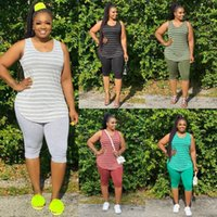 Designer 2021 Women Fashion Striped Vest Two Piece Pant Set Is Hot The New Listing Recommend XL-5XL
