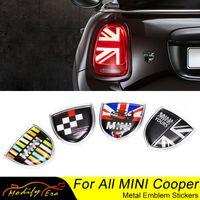 Union Jack Car Metal Emblem Badge Stickers Decals For Mini Cooper Countryman Clubman F54 F55 F56 R55 R56 R60 F60 Car Accessories
