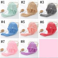 Hair Drying Hats Microfiber Quick Dry Towel High Density Coral Fleece Magic Super Absorbent Turban Wrap Hat Spa Cap