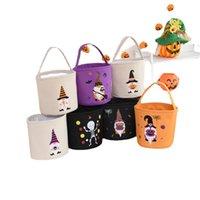 Halloween Bucket Regalo Wrap Girls Boys Bambino Candy Collection Bag Bag Forniture Party Forniture Pasqua Pasqua Festival Festival Pumpkin cestino per bambini 24 * 23cm
