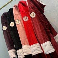 Wypoczynek mężczyźni kobiety szaty z kapturami Unisex Bath Sleep z kapturem szata jesień zima ciepły szlafrok i tagi