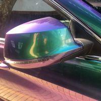 サンチェ高光沢パールビニールパープルブルーグリーンカメレオンカービニールラッピングビニールラッパー車の皮ステッカーエアバブルフリー