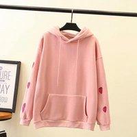 Women's Hoodies & Sweatshirts Plus Size XL-4XL Pink Black Autumn Winter Thin Velvet Pullover Casual Outwear Sweatshirt Women