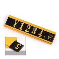 Artículos de la novedad Tenedor de precios Número Datos de la tira de productos Sticky Tag Pantalla Estante Estante Etiqueta Marco de aluminio Metal Signo para joyería
