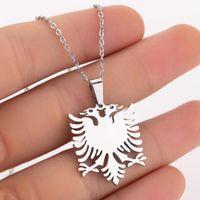 Албания Орел кулон ожерелья из нержавеющей стали этнические животные цепи ювелирных украшений 147 U2