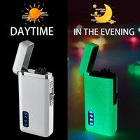 Neue neueste leuchtende elektrische Feuerzeuge Jet Winddicht Bogenplasma USB Ladebare Feuerzeug Metallbrenner Gas Butan Rohr Zigarettenanzünder Geschenk