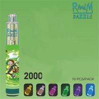 Randm Dazzle Dispositivo Desechable Kit 6ml PODS 2000 Puffs 1100mAh Batería Vape Bar Pen LED RGB Light Iget XXL