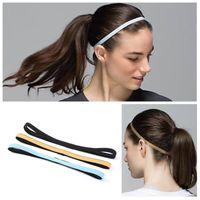 1 unids Nylon Head Head Sweatband antideslizante para hombres Mujeres Yoga Bandas para el cabello Running Bandas de sudor Gimnasio Diadema