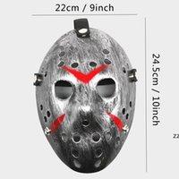 Maskerade Masken Jason Voorhees Mask Freitag Der 13. Horror Movie Hockey Maske Furchtbare Halloween Kostüm Cosplay Kunststoff Party Masken HWF9583