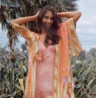 Imprimir Floral Ayualin Kimono Cardigan Longo Blusa Fer Mulheres Swim Swim Cobrir Verão 2021 Boho Kaftan Beach Femme Bluses ves Mu9h
