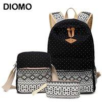Sacs scolaires Diomo Canvas Set pour filles Femelle Schoolbags Sac à dos de haute qualité Sac à dos féminin