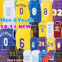 Los Angeles Lakers LeBron James Kobe Bryant 32 Johnson 2020 2021 로스 23 앤젤레스 저지 안토니 3 데이비스 알렉스 4 Caruso 6 Mens Youth Kids Kyle 0 Kuzma 화이트 옐로우 농구 유니폼