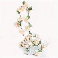 2.2m fleurs de cerisier artificiel fleurs de mariage guirlande de mariage décoration fausse de la soie fleurs fleurs vigne