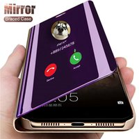 Luxury Smart Mirror Phone cover For Apple iPhone 11 12 Pro Max 8 7 6 6s Plus Xr Xs Max X Xs SE 2020 support Flip Protective case