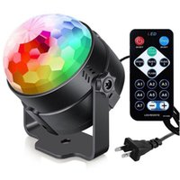 Party Decoration Colorful Voice Control Night Light Props Disco Ball LED Stage Lighting Laser Projector Lights Christmas Performance Supply