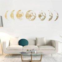 Pegatinas de pared creativo luna fase 3d etiqueta en casa sala de estar decoración mural etiquetas de arte decoración de fondo