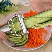 Tragbare Hohe Qualität 430 Edelstahl Kartoffel Gurke Karotte Rater Julienne Peeler Gemüse Obst Peeler Gemüse Slicer Owd5205