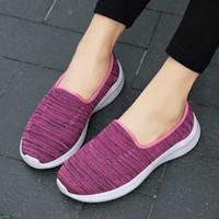 Preguntas de mujer zapatos expectantes Madre Zapatos de malla Mocasines casuales Ligeros Pisos Ligeros Slip en zapatillas de deporte cómodas gimnasios más tamaño H33Z #