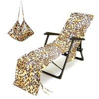 Хранение напечатано напечатанный набор кресло для лаунджного кресла с пляжем крышка микрофибры быстрая сушка бассейна банные полотенца с сумкой