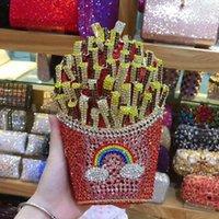 Вечерние сумки Xiyuan дизайнер Французская ФРИ Чипсы Небольшое сцепление кошелек женщин Кристалл Сумка Diamond Свадебная сумочка Бримальный кошелек