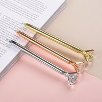Ballpoint Pens 1PCS Portable Big Crystal Pen Diamond Stationery Gem Ballpen Home Office School Supplies Metal Gift
