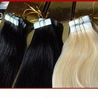 XCsunny Tape in Human Hair Extensions Gerade 100g Packungsband Remy Hair Indian Remy Tape Menschliche Haarverlängerungen