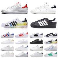 ayakkabı adidas stan smith superstar Klasik og erkekler rahat ayakkabılar moda üçlü siyah beyaz yeşil platform superstars erkek bayan eğitmenler spor ayakkabı