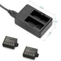 Carregador de bateria USB Dual Chargers para Eken H9 H9R H3 H3R H8PRO H8R H8 PRO SJCAM SJ4000 SJ5000
