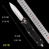 Otomatik Bıçak UTX Mikro Teknoloji Otomatik Bıçaklar Tek Kenar Saten Bıçak Cep Knifes EDC Araçları D2 Blade Cuter Kamp Bıçaklar Fileto Araçları